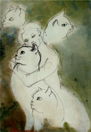 """""""...per i gatti, adorati gatti..."""" mostra a Trieste, 2006"""